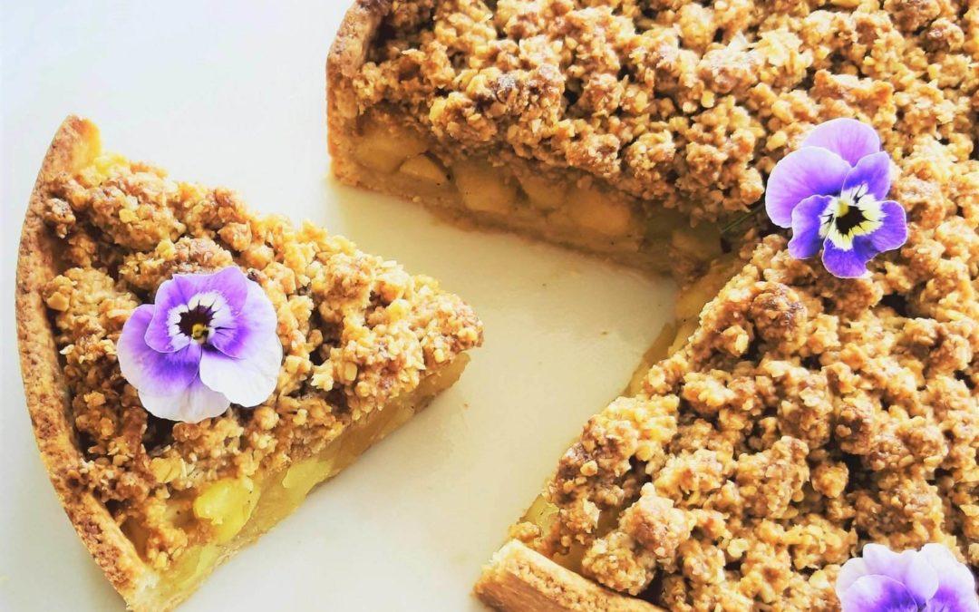 Æbletærte – gluten og sukkerfri
