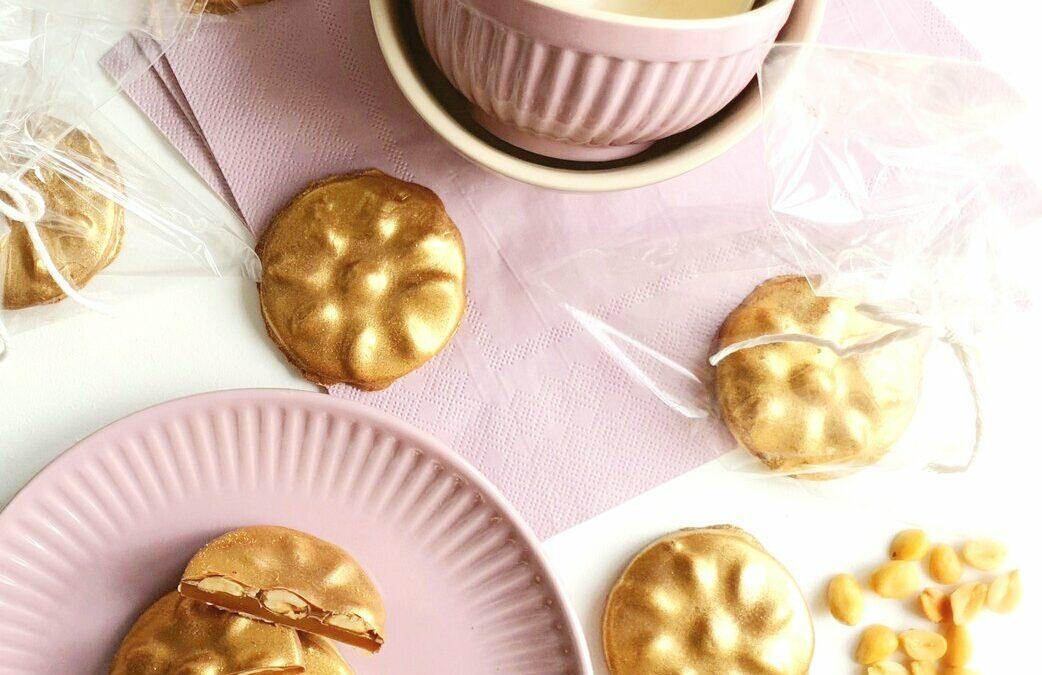 Guldhjul med honningkaramel og saltede peanuts